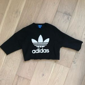 Sweaters - Adidas Cropped Sweater with flared sleeves